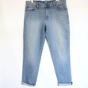 LOFT Boyfriend Jeans Denim Full Leg Ankle NEW